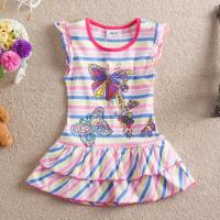 girls simple and beautiful kids embroidered smock dress maunfactured in China