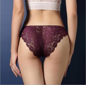 Buy cheap N3004 Factory Wholesale Women Luxury Sheer Lace Low Waist Underwear from wholesalers