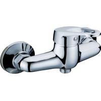 Quality Wall Mounted Chrome Two Hole Bathroom Faucet Shower Mixer Taps with Single Lever for sale
