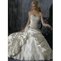 Quality Free Shipping Ball Gown Sweetheart Chapel Train Sexy Satin Wedding Dresses for sale