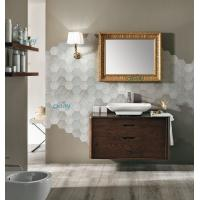Quality Wall Mounted Transitional Bathroom Vanities Simple Design For Small Space Bathroom for sale
