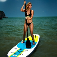 Quality Yellow Green 3 Fin 10'X32''X6'' Inflatable Surf Boards for sale