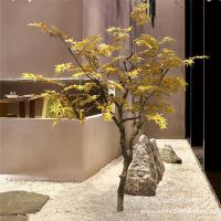 China Autumn Style Artificial Maple Tree Japanese Hotel Coffee Shop Decoration for sale