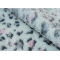 China Coral Fleece Fabric With SGS Certification Leopard printed 160cm width on sale