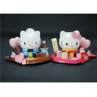 Valentine'S Day Hello Kitty Plastic Figurines Eco - Friendly PVC ABS Material
