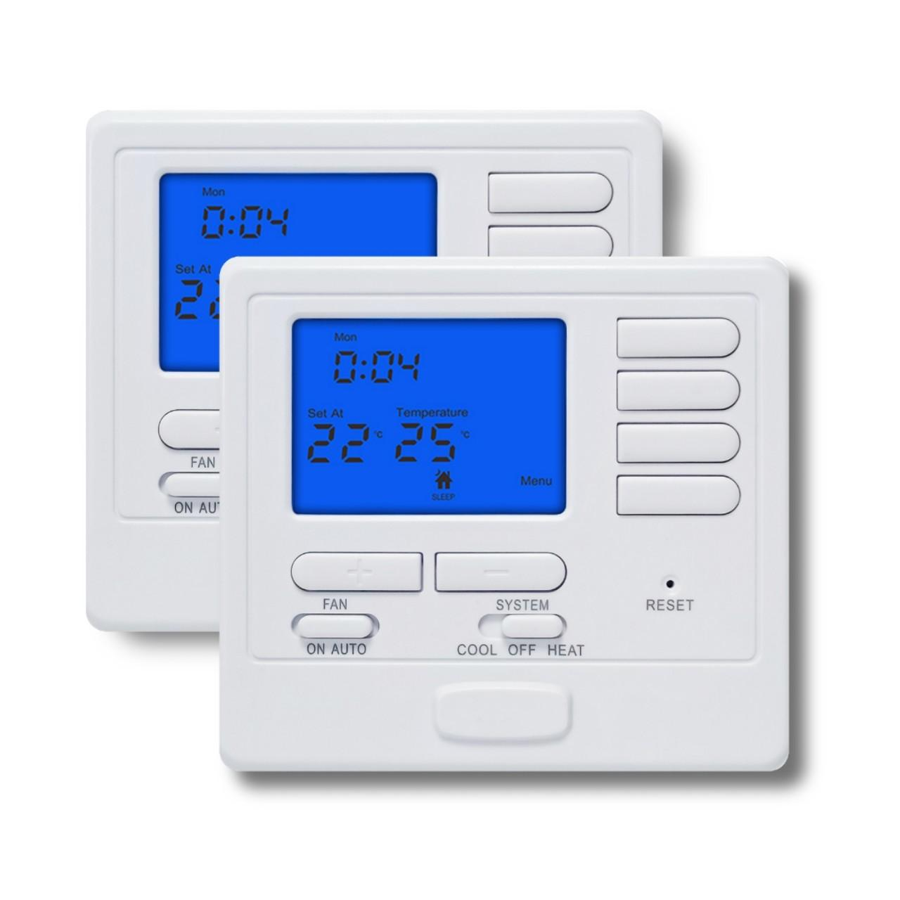 Quality Digital Single Stage Programmable Heating Thermostat 24 VAC 1 Heat 1 Cool for sale