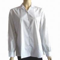 Women's blouse, suitable for office lady, T/C fabric, various sizes/colors/fabric are welcome