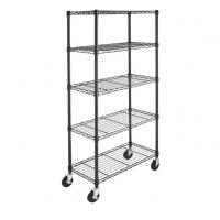 China Chrome Plated Metal Shelving Unit With Wheels 4'' For Bedroom Display on sale