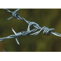 Buy Solid Sharp Razor Barbed Wire Fence , Barbed Wire Cattle Fence For Agriculture at wholesale prices