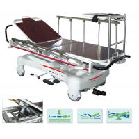 Quality Steel Emergency Stretcher Trolley Electric Hospital Transport Bed Rise Fall for sale
