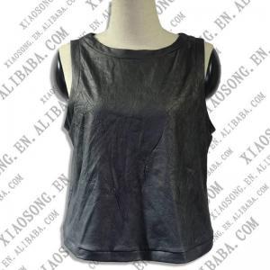 China ladies leather vest on sale