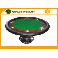 Quality Classic 8 People 48'' Small Round Poker Table One Steel Leg For Poker Game for sale