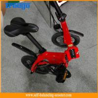 Red Self Balancing Scooter Electric Boost Bicycle 80km Mileage Speed 25 Km/H