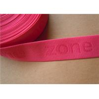 Buy 38mm Custom Woven Ribbon Trim Underwear Elastic Band Embroidered at wholesale prices