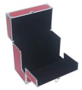 Quality Record LP storage case with unique folding front flap Aluminum DVD case red for sale