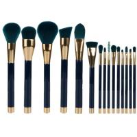 Buy cheap 15 Pieces Popular Makeup Brushes Made Of Three Color Nylon Hair And Gold Aluminum product