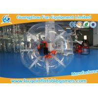 Buy cheap Custom make 1.5m Dia Orange Inflatable Soccer Bubble Daycares Skill Printing For Entertainment product