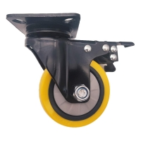 China 4 5 Swivel Plate Industrial Casters with Brake on sale
