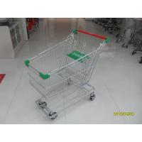 Buy cheap Professional 125L Metal Shopping Trolley With Wire Mesh Base Grid , ROHS from wholesalers