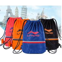 Quality high quality nylon drawstring bag with front zipper pocket for sale
