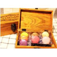 Solid  Handmade Wooden Tea Bag Box Colorful Lacquer With Compartments