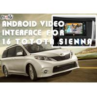 Quality HD Display Car Video Interface For TOYOTA Sienna 2016 With Front View DVD TV for sale
