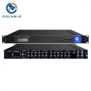Buy cheap IP to AV Integrated Receiver Decoder IP to AV 8 Channels AV MPEG 2 MPEG4 Decoder from wholesalers