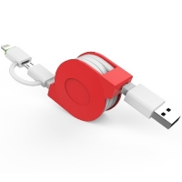 Quality Flat Gold Plated CE 5V 2.4A 1.5m USB Multi Charging Cable for sale