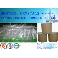 Buy cheap Colourless White Menthol Crystals Pharmaceutical Intermediates CAS 89-78-1 product