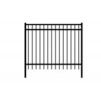 Buy cheap 3 Rails Black Steel Fence , Residential Beautiful Metal Security Fencing from wholesalers