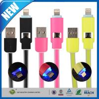 China Duo 2-in-1 USB Data Transfer Cable Sync Charge With Lightning on sale