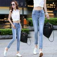 Quality Cream  White Womens Slim Straight Leg Jeans ,  Low Rise Boot Cut Jeans for sale