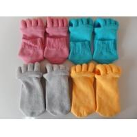Quality Cotton and Polyester Materials Unisex Foot Alignment Socks, Comfy Toe Socks for sale