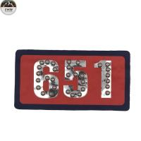 China Luxury Embroidered Letter Patches / Garment Embroidered Number Patches on sale