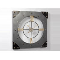 China Indoor Outdoor Metal 3D Vintage Square Retro Wall Clock on sale