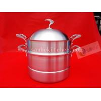 Quality 3 layers Stainless steel steam pot,thickness 2.5mm with cast iron handle for sale