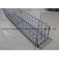 China Prefabricated Gabion Rock Wall Cages For Bridge Protection , Hot Dipped Galvanized Wall Baske on sale