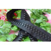 China 30# Plastic Giant Roll Oversize Resin Zipper For Hat With Strong Zip Teeth on sale