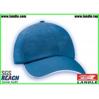 Quality 100% Cotton Blue Dry Fit Flat Cap For Daily Decoration Customized for sale