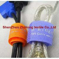 Quality Customized screen printed flexible  Velcro hook loop cord strap/cable ties for sale