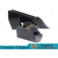 China Black Color Gambling Dedicated Casino Card Shoe , One Deck Shoe For Poker Cards on sale