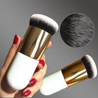 Quality Professional Chubby Pier Foundation Brush 5 colors Makeup Brush Flat Cream Makeup Brushes Cosmetic Make-up Brush for sale