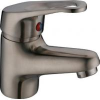 Quality Brushed Nickel Antique Basin Mixer Faucet Taps with One Handle , Euro Style for sale