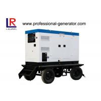 Quality Soundproof Portable Diesel Mobile Power Generator 25kva Cummins Engine for sale