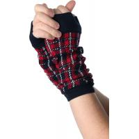 Quality Red / Green + Black Women's Free Fingerless Gloves Knitting Patterns ...