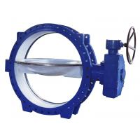 China Double Eccentric Flanged Butterfly Valves stainless steel , Tri - Eccentric  Butterfly Valve on sale