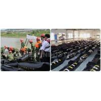China WGV900 PVC coated Rubber oil boom solid float oil barrier containment boom on sale