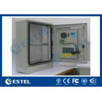 Quality Single Wall Stainless Steel Outdoor Telecom Cabinet With Cooling System / Air Conditioner Type Telecom Enclosure for sale