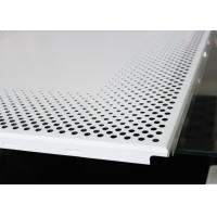 China Aluminium Perforated Metal Ceiling panel / Round Hole Punching Platfond Panel on sale