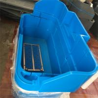 China Plastic Bathtub Mould For Blue Color Small Pet Bath With Floor Shift Double Wall on sale